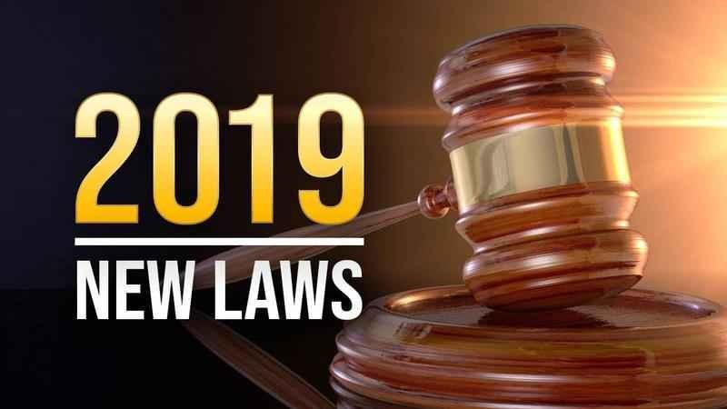 New Laws Take Effect in 2019