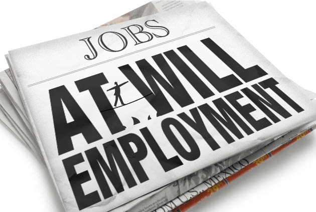 employment at will Illegal termination from your job because the employer testified or was subpoenaed to testify in a case under part iii of the employment practices law.